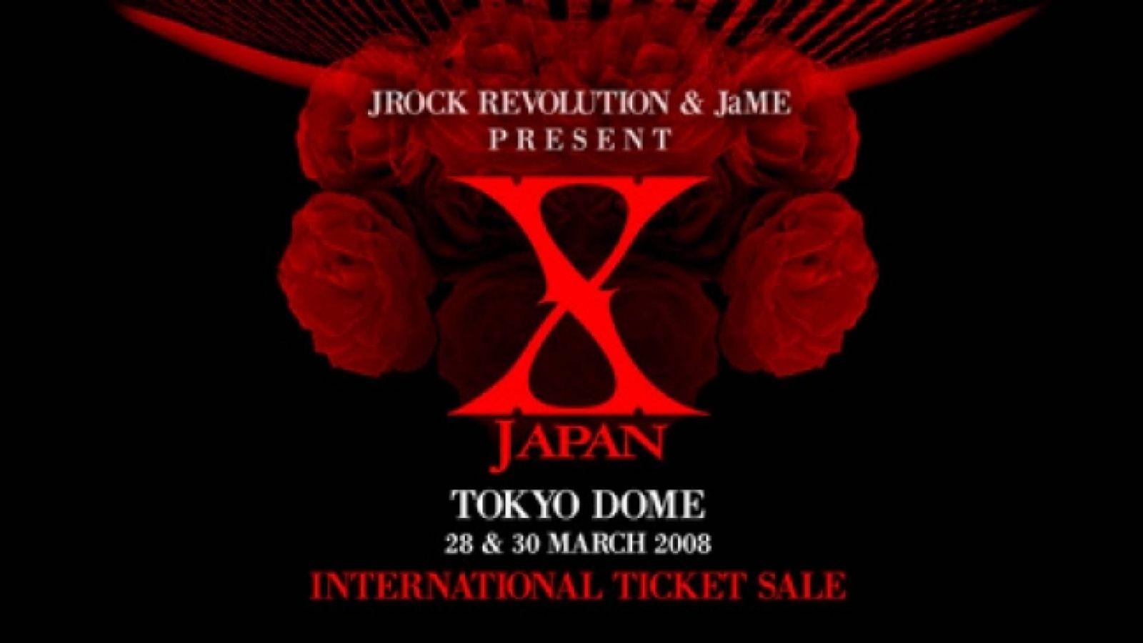Międzynarodowa sprzedaż biletów na X JAPAN © X JAPAN, Jrock Revolution, JaME, EINSOF Marketing Group