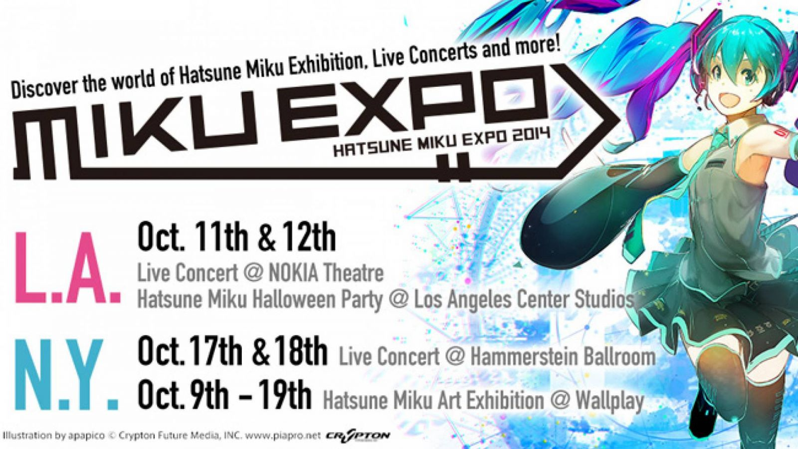 HATSUNE MIKU EXPO 2014 Releases Official Theme Song © apapico / Crypton Future Media, INC.