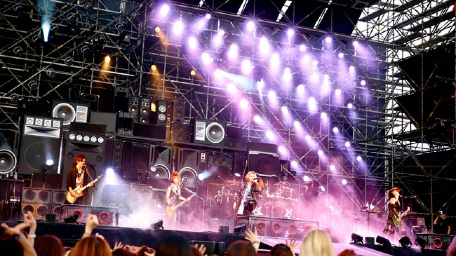 """the GazettE """"BURST INTO A BLAZE 3"""" w Fuji-Q Highland Conifer Forest © Sony Music Entertainment (Japan) Inc. All rights reserved."""