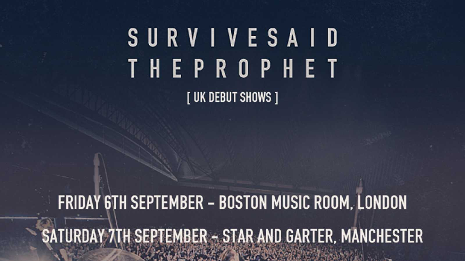 "Survive Said The Prophet Announce Debut UK Shows, Release ""MUKANJYO"" Title Track on Digital Music Platforms © Survive Said The Prophet"