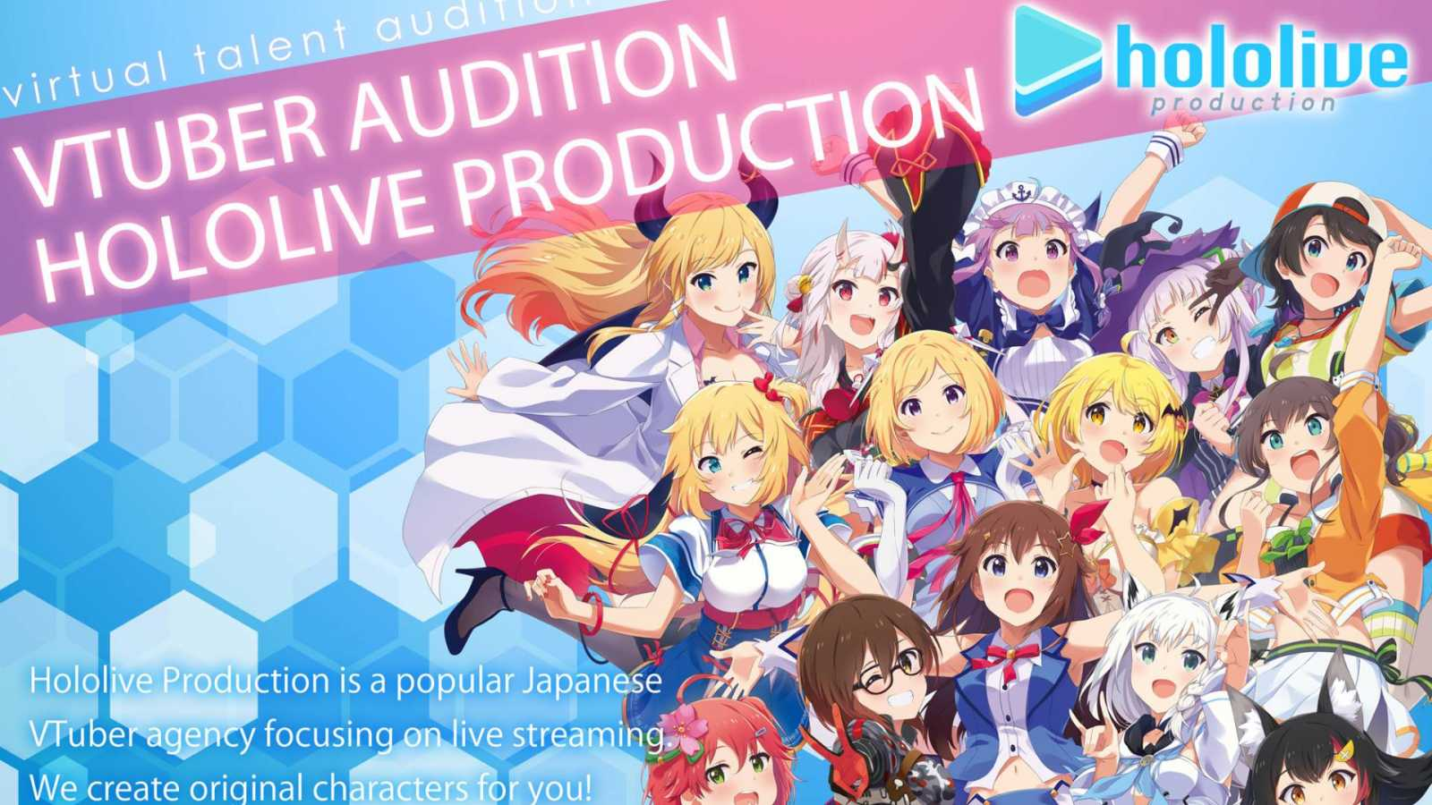 Hololive Production Begins Auditioning VTubers from English-Speaking Countries © Hololive Production. All rights reserved.